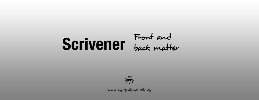 back matter in scrivener
